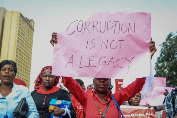 La corruption répandue chez les politiques africains