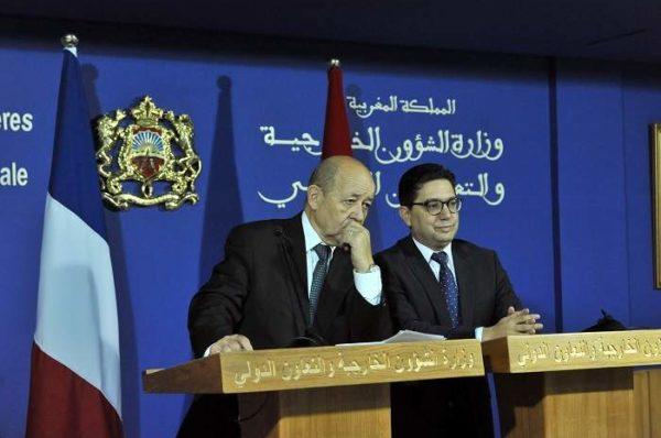 Maroc-France : à Rabat, Jean-Yves Le Drian et Nasser Bourita saluent des « principes identiques »