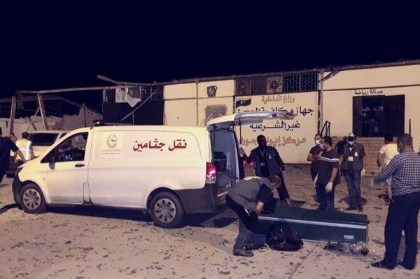 Libye: lourd bilan après l'attaque d'un centre de migrants à Tripoli