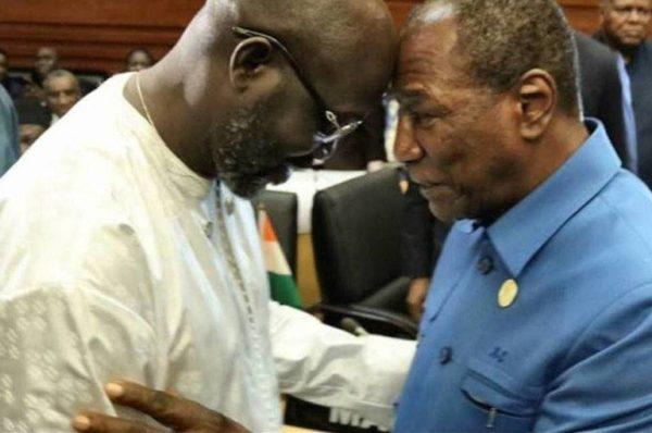 Guinée-Liberia : Alpha Condé et George Weah affichent leur volonté de rapprochement