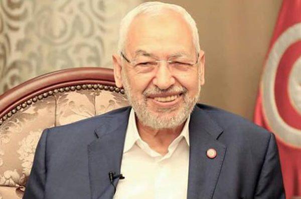 Rached Ghannouchi, le chef du parti islamiste Ennahdha, élu à la tête du Parlement tunisien