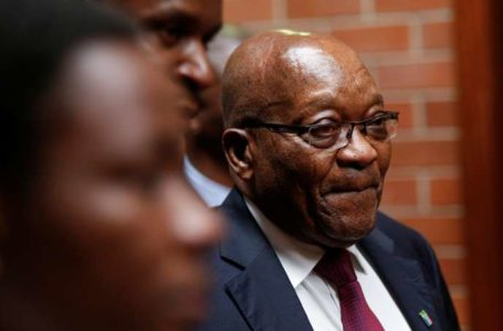 Former South African President Jacob Zuma arrives at the High Court where he faces charges that include fraud, corruption and racketeering, in Pietermaritzburg, South Africa, October 15, 2019. REUTERS/Rogan Ward – RC1DACEDF0A0
