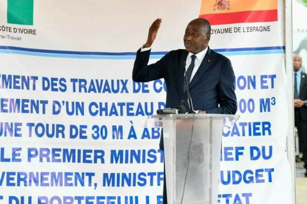 CÔTE D'IVOIRE : Construction de château d'eau, connexion à l'électricité, Gon Coulibaly omniprésent