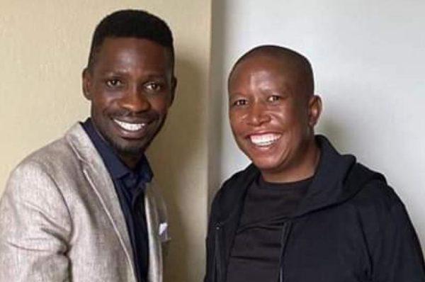L'opposant ougandais Bobi Wine rencontre son homologue sud-africain Julius Malema