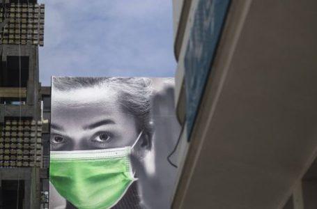Une publicité prônant le port du masque dans les rues de Rabat, le 22 avril 2020. © Mosa'ab Elshamy/AP/SIPA