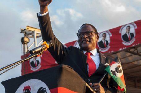 Le chef du Parti du Congrès de l'Opposition, Malawi, Lazarus Chakwera