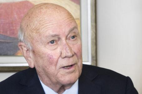 FW de Klerk, le dernier président blanc d'Afrique du Sud