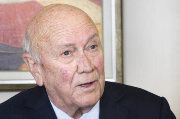 L'ancien président sud-africain De Klerk se retire du discours américain sur les droits