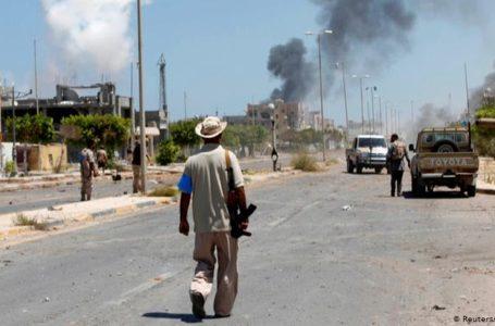 Affrontement entre milices libyenne et l'Etat islamique à Syrte, en 2016.