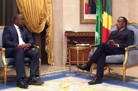 Le président de RDC Félix Tshisekedi (G) et son homologue du Congo-Brazzaville Denis Sassou-Nguesso