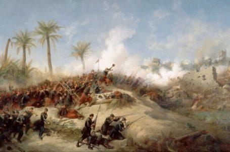Prise d'assault de la Zaatcha (1849) », par Jean-Adolphe Beauce.