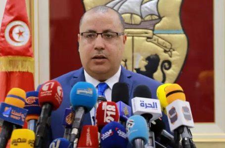 Hichem Mechichi le 6 mars à Tunis. ANIS MILI / AFP