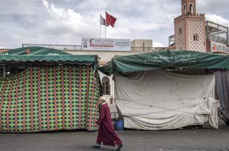 Les boutiques à Marrakech vides du premier confinement, le 16 mars 2020. AFP Photos/Fadel Senna