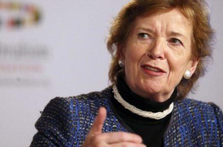 L'ancienne présidente irlandaise Mary Robinson