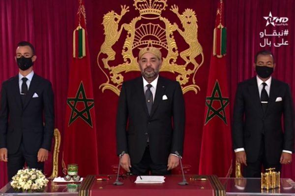 Face à la hausse des infections au coronavirus, le roi du Maroc appelle au civisme