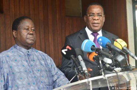 ri Konan Bédié (à gauche) et Pascal Affi N'Guessan