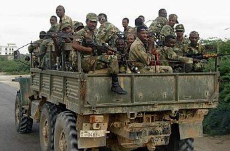 Des soldats éthiopiens en patrouille