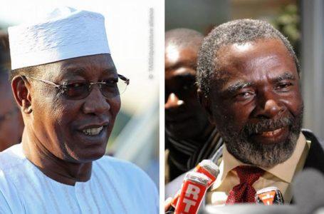 Le président Idriss Déby (g.) et l'opposant Ngarlejy Yorongar (d.)