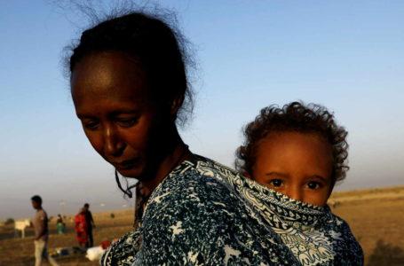 Des réfugiés, qui ont fui les combats dans la région du Tigré, à la frontière soudano-éthiopienne le 22 novembre 2020. Mohamed Nureldin Abdallah / REUTERS