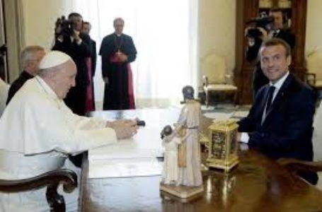 Le pape François et le Président français Emmanuel Macron