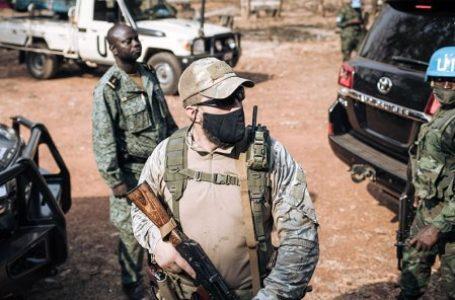 Un membre du service de sécurité russe de Faustin-Archange Touadéra, en décembre 2020. © ALEXIS HUGUET / AFP