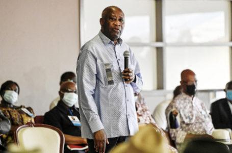 Laurent Gbagbo à Mama, le 28 juin. © SIA KAMBOU/AFP