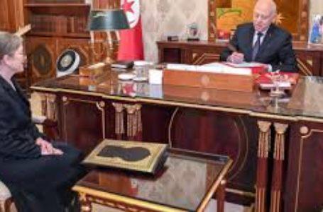 Le président Kaïs Saïed recevant la cheffe du gouvernement Najla Bouden. © Présidence Tunisie